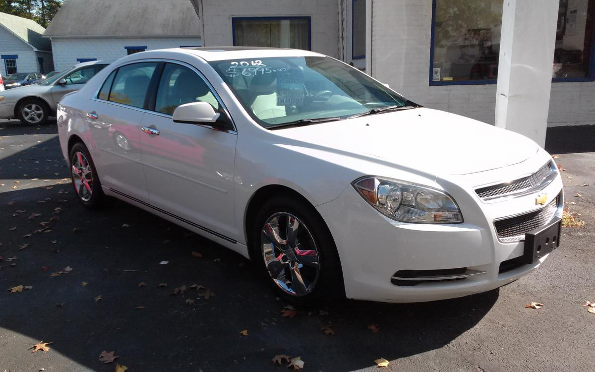 2012 white Chevrolet Malibu 2LT (1G1ZD5EU0CF) with an 2.4L L4 DOHC 16V FFV engine, 6-Speed Automatic transmission, located at 101 N. Main Street, Muncy, PA, 17756, (570) 546-5462, 41.207691, -76.785942 - Photo #0